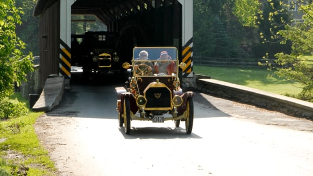For many if not most owners, the best part of a brass car is driving it. That explains the popularity of tours such as the Beautiful Brass Cars tour for which the Model T and the E-M-F are nicely suited.
