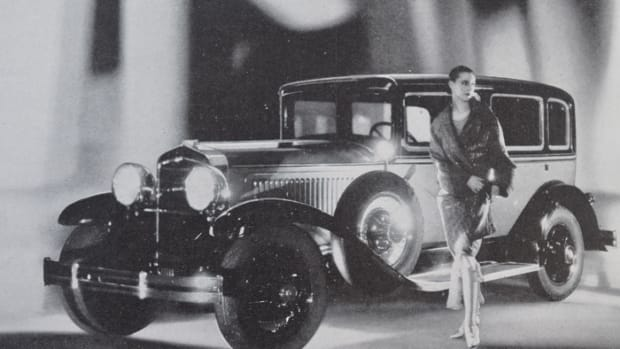 In December of 1928, highly stylized Dodge ads showed dreamy images of the upgraded New Senior Six as a manifestation of the Chrysler Corporations takeover of the honorable Dodge nameplate.