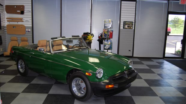 Soon there won't be any British cars like this MGB at LMC.