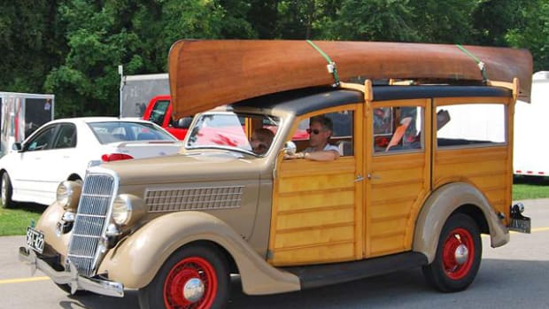 John Seaman's '35 Ford woodie holds family memories.
