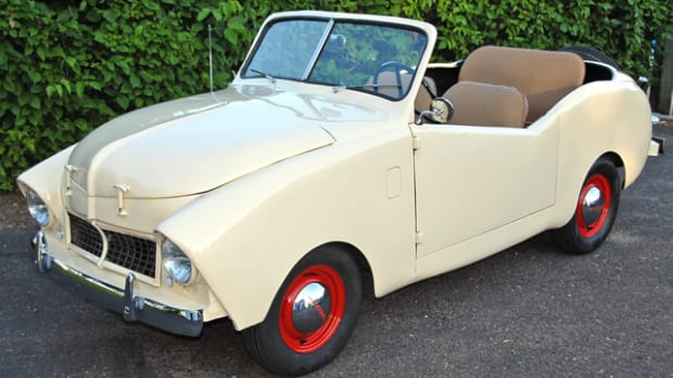 Brad Yoho of Stillwater, Minn. owns this unique 1948 Crosley. It has had a long list of modifications, which Yoho has tried to preserve.