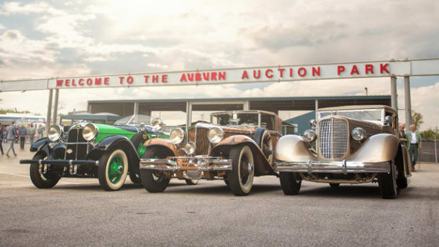 The Auburn, Cord, and Duesenberg trio offered from the Richard L. Burdick Collection at Auburn Fall (Credit - Corey Escobar © 2018 Courtesy of RM Auctions)