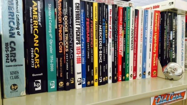"My ""Standard Catalog"" shelf at my desk."