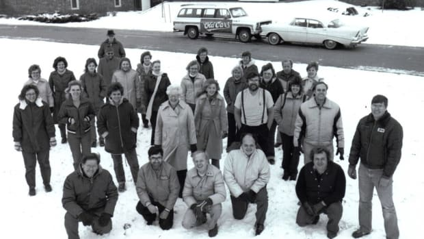 The staff of Old Cars Weekly while LeRoi Tex Smith was editor and publisher.