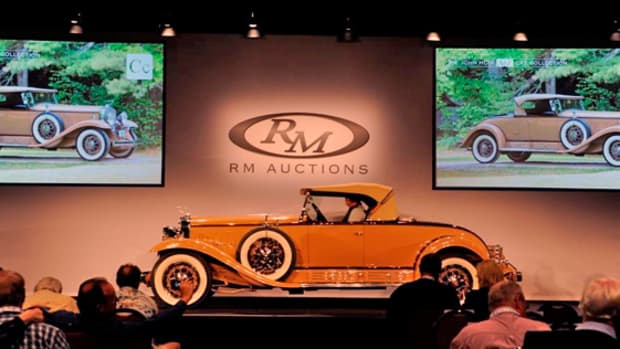 Top-seller: The Moir Family's 1930 Cadillac V-16 Roadster headlined the two-day sale, bringing an incredible $1,100,000.