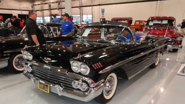 A 1958 Impala in condition 1 was bid to $107,000 to no effect.