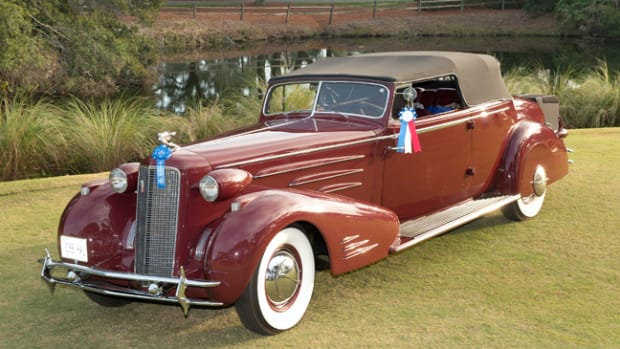 """Best of Show"" 1934 Cadillac Victoria Convertible Coupe owned by Steven Plunkett of London, ON Canada."