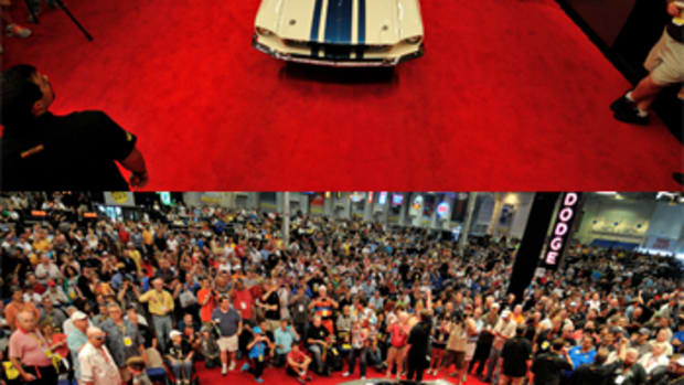 Top: 1967 Shelby GT500 Super Snake (Lot F203) Bottom: 1967 Ford Mustang Eleanor Super Car (Lot S135)