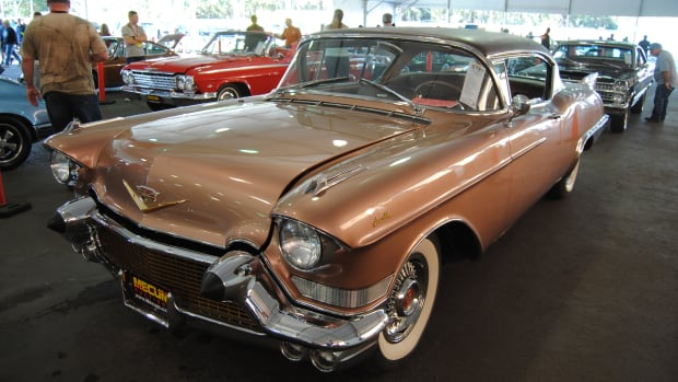 This 1957 Cadillac Eldorado Seville sold for a world record $150,000 at the Mecum Kissimmee this January.