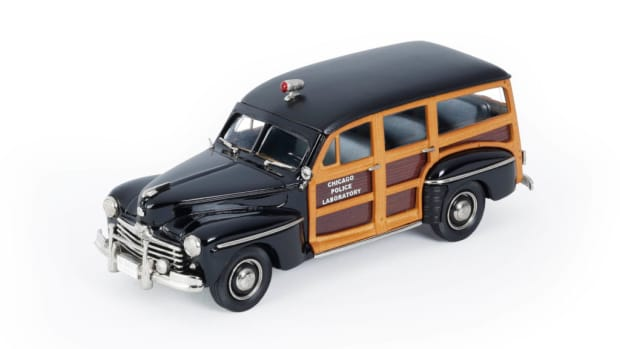 This new Brooklin model accurately replicates in 1:43 scale one of the Ford woodies that the Chicago PD purchased in 1948.