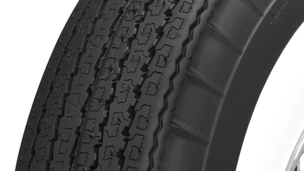 Coker Tire's new American Classic radial tire with the look of a bias-ply tire.