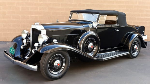 This 1932 Packard 900 Light Eight Coupe Roadster, owned by Gordon and Janet Apker of Des Moines, Wash., will be at the inaugural Arizona Concours. (Michael Tobian photo)