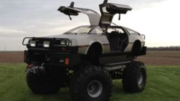 """The """"Back to the Future"""" 30th anniversary display will include not only a movie replica DeLorean, but this monster truck as well. (Credit: Rich Weissensel)"""