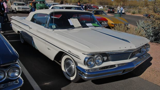 One collector consigned both examples of convertibles built by Pontiac for 1960. This Bonneville sold for $24,750, while it's smaller brother Catalina sold for $24,100. Both will be staying together, as the same person bought them both.