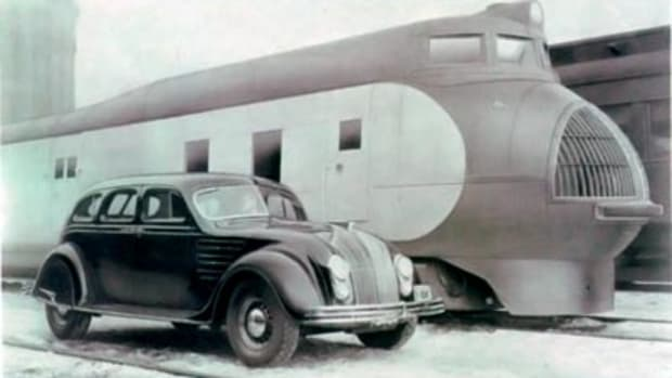 The Airflow cheated the wind like the super streamliner trains of the Art Deco era.
