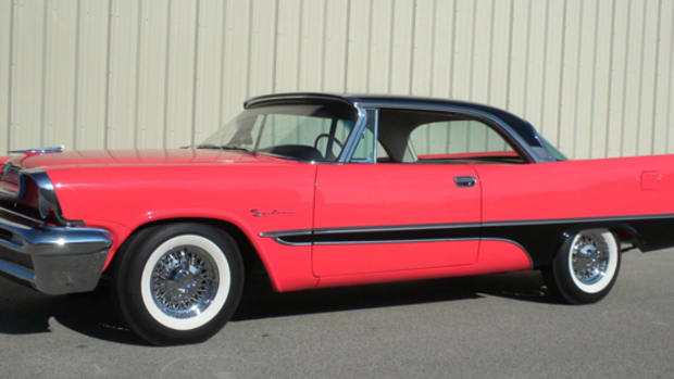 This 1957 De Soto Firesweep is Barrett-Jackson lot No. 1107 and will cross the block around 8 p.m. on Jan. 18.