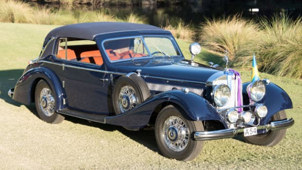 Best of Show winning 1938 Mercedes-Benz 540 Cabriolet. Photo - Hilton Head Concours d'Elegance