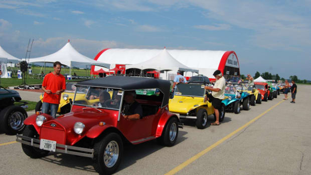 Over 100 dune buggies attended the Volkswagen Funfest last June.