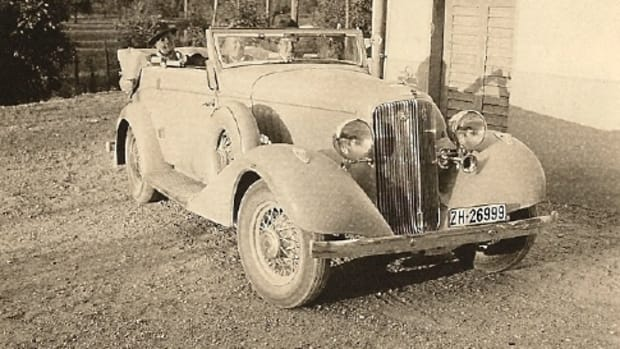 This isn't an ordinary 1933 Pontiac - the car carries a coachbuilt convertible victoria body of unknown origins.
