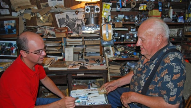 Meeting with Joe at his shop in 2010.