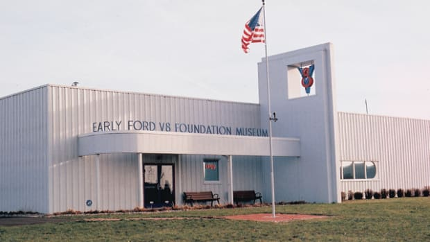 The current Early Ford V-8 Foundation Museum is an 8,000-square-foot maintenance and storage facility in Auburn, Ind., that will remain in use until the new Rotunda museum is completed.