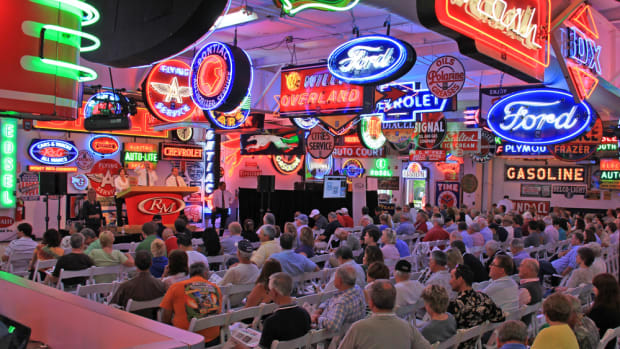 The RM Auctions Dingman Collection sale included more than 1,000 signs and other pieces of automobilia. (Photo courtesy of RM Auctions)