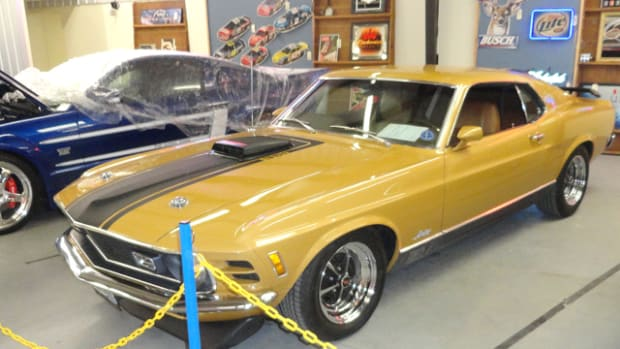 This 1970 Mustang Mach 1 reportedly changed hands for $31,635 in a post-block sale following the Peach Classic.