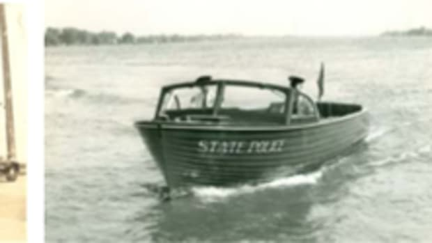 St. Clair State Police Post; State Police Boat; State Police Car