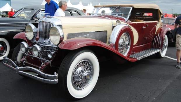 Taking the top-sale honor during Auctions America's Fall Auburn sale was this 1934 Duesenberg Model SJ with the LeGrande Swept Panel Phaeton bodywork, bid to $2.1 million as a no-sale, later declared sold for $2.3 million in post-sale negotiations.