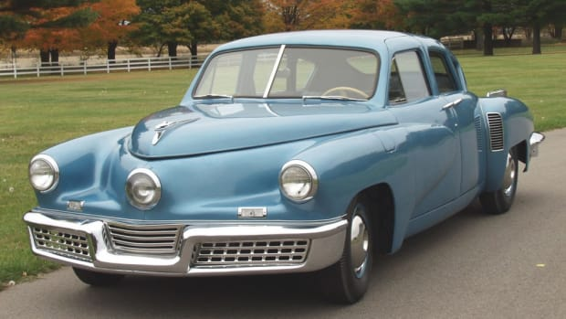Several 1948 Tucker Automobiles will be part of the show field at the 2012 Glenmoor Gathering Sept. 14-16, including this unrestored Tucker from the Gilmore Car Museum Collection.
