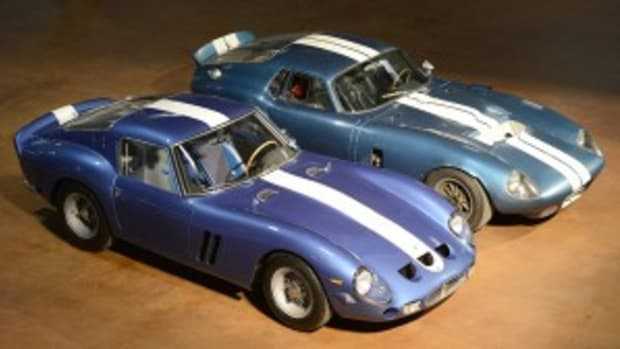 The Simeone Automotive Museum's Cobra Daytona Coupe and Ferrari GTO will be featured Feb. 23, 2013, during a Demo Days presentation.