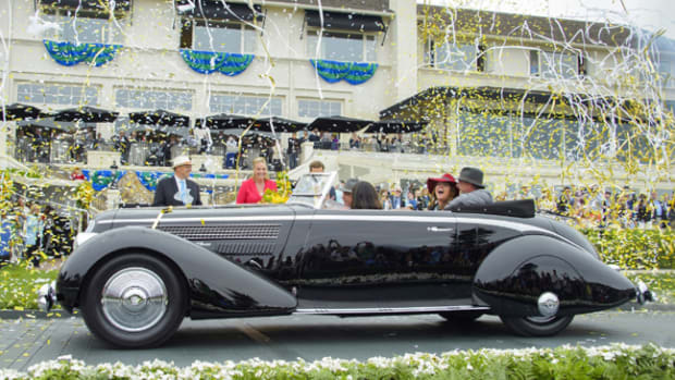 A 1936 Lancia Astura Pinin Farina Cabriolet owned by Richard Mattei of Paradise Valley, Arizona, was named Best of Show at the 2016 Pebble Beach Concours d'Elegance. (Credit: Ron Kimball/Pebble Beach Concours d'Elegance) (PRNewsFoto/Pebble Beach Concours d'Elegance)