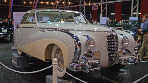 This gorgeous 1949 Delahaye Type 175 Saoutchik Coupe De Ville had been the Paris Salon car when new, will be offered this coming Saturday at Barrett-Jackson.