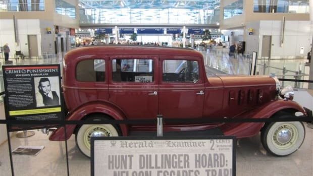 Dillinger Car Photo at Indy Airport.JPG