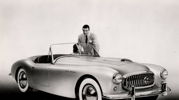 "Although a tight fit, Donald Healey Co. called it an ""Open Sports 3-seater."""