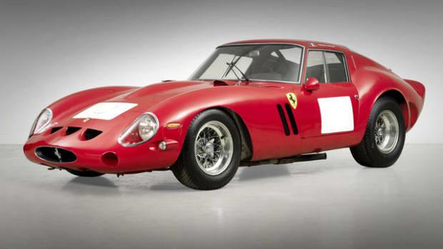 Ferrari 250 GTO achieved $38,115,000, setting a new world auction record at Bonhams Quail Lodge Sale.