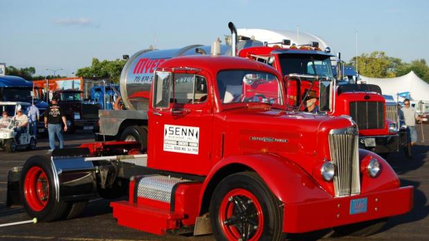 "Senn Blacktop of Osseo, Wis., restored this vintage White Motor Co. ""Super Power"" semi tractor."