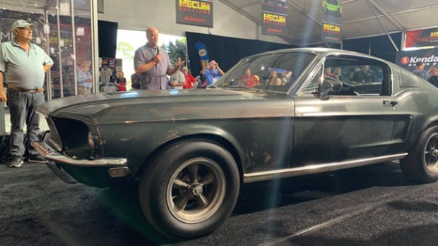 Bullitt Mustang Being Revealed at Mecum Auctions in Monterey. Photo - Mecum Auctions