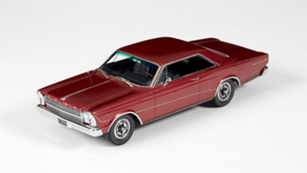 The 1966 Ford Galaxie 500 7-Litre Hardtop Tribute Edition in Candy Apple Red 1:24 priced at $366.95.