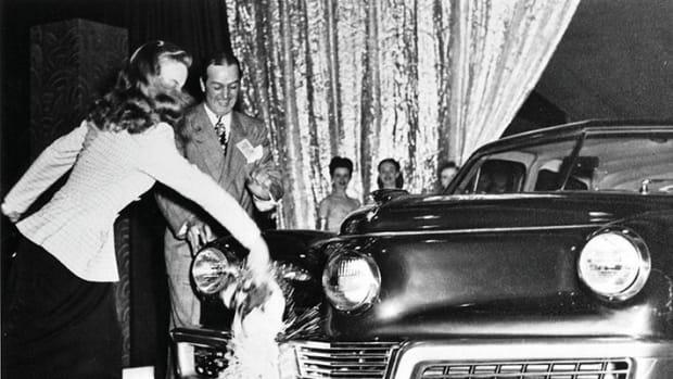 "Tucker ""christening"" photo courtesy AACA Museum."