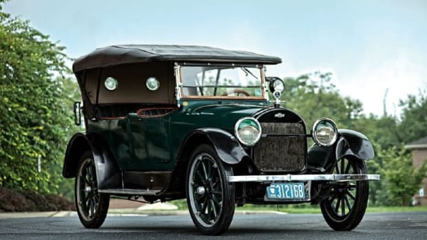 The original-family-owned 1918 Chevrolet D-Series V-8 touring offered by RM Auctions at its 2012 Hershey sale. (Owen Fitter photo ©2012, courtesy of RM Auctions)