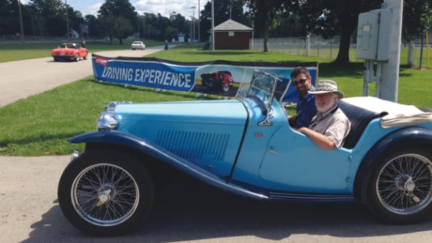 This 1949 MGTC was one of the vintage cars participating in the Hagerty Driving Experience in Caledonia, Ontario.