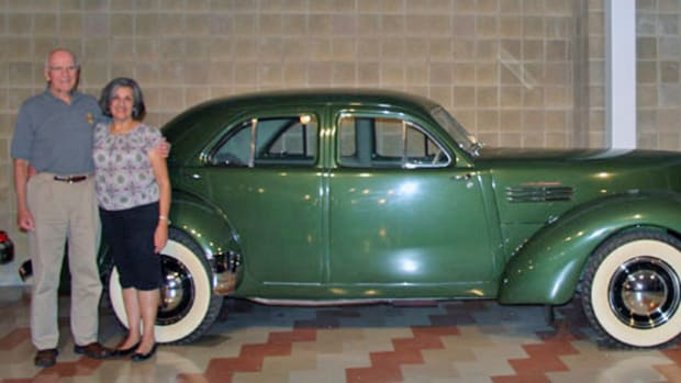 Ken and Stephanie Dunsire of Fort Wayne, Ind., donated this significant 1941 supercharged Graham Hollywood to the Auburn Cord Duesenberg Automobile Museum.