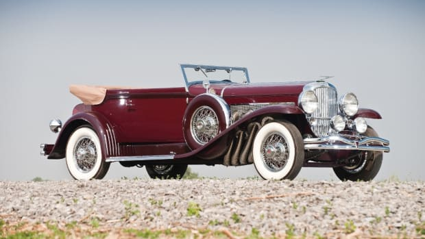 1933 Duesenberg Model SJ Convertible Victoria by Rollston. (© Darin Schabel Courtesy of RM Auctions)