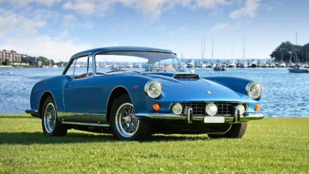 A 1961 Ferrari 400 Superamerica Cabriolet that shone on the Pininfarina stand at the Geneva car show of the same year will star at the Greenwich Concours International. Photo credit: Bearded Mug Media (PRNewsFoto/Greenwich Concours d'Elegance)
