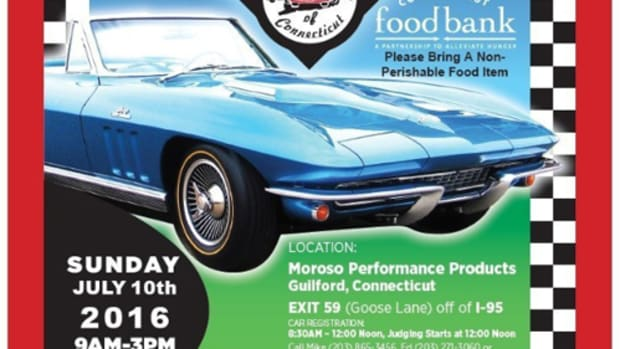 Club Corvette of Connecticut announced today that it will hold its 24th Annual Corvette Show on Sunday, July 10 at Moroso Performance Products in Guilford, Conn. Visit one of the largest all-Corvette shows in the Northeast on July 10, 2016 in Guilford Conn. Gates open at 9:00 a.m. Admission is $6.00 per person, children under 12 are free. Vendors will be on site offering Corvette and automotive memorabilia; a variety of foods, beverages and other refreshments will also be available for purchase. Rain date July 17. (PRNewsFoto/Club Corvette of CT)
