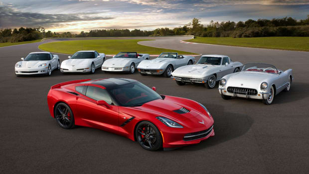 The 2014 Corvette takes center stage.