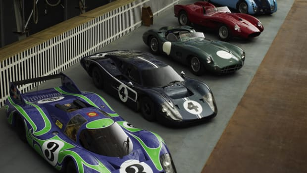 The Simeone Foundation Automotive Museum in Philadelphia contains over sixty of the rarest sports racing cars ever produced, displayed in dioramas that represent the venues where they raced. This photo represents cars that raced at the famous Le Mans 24-hour race. Photo by Michael Furman.