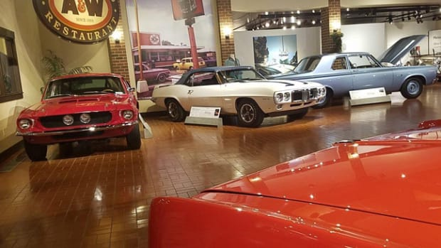 The Gilmore Car Museum has assembled a special exhibit of some of today's most sought-after muscle cars, including a 1967 Ford Shelby GT500, 1969 Pontiac Trans Am and the Hemi-powered 1965 Plymouth Belvedere.