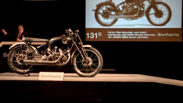 The Black Lightning on Bonhams' auction block in Las Vegas. Photo - Bonhams
